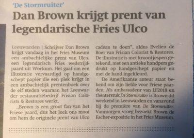 Krantenartikel Dan Brown